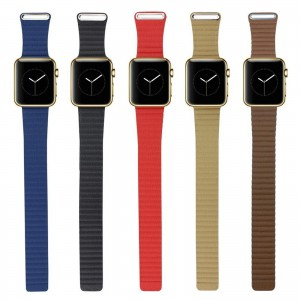 New Leather Loop Watch Band Strap