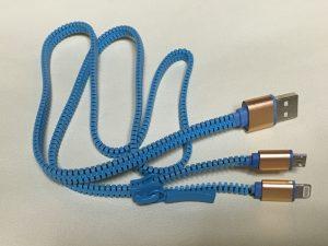 Rephoenix 2 in 1 ライトニング micro usb充電 ジッパー usbケーブル